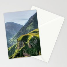 Mountains, green, gigantic, steep and rolling Stationery Cards