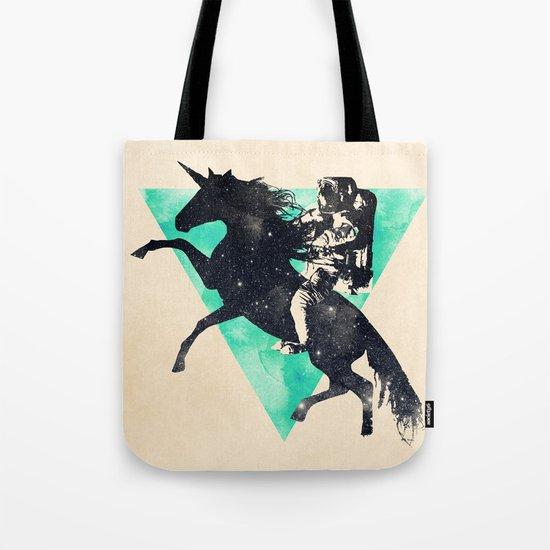 Ride the universe Tote Bag
