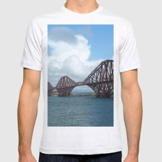 Forth Bridge, Scotland Mens Fitted Tee Ash Grey SMALL