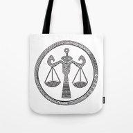 Zodiac Sign Libra Tote Bag