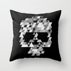 Skull bw Throw Pillow