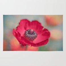 Red Poppy Rug
