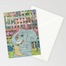 Elephant Reading Stationery Cards