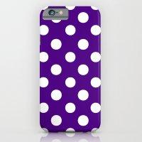 Polka Dots (White/Indigo) iPhone 6 Slim Case