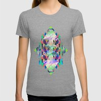 Diamant Womens Fitted Tee Tri-Grey SMALL