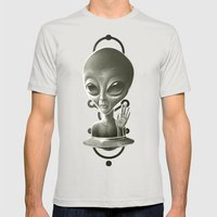 Alien II Mens Fitted Tee Silver SMALL