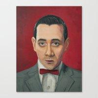 Pee-Wee Herman, A portrait Canvas Print
