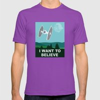 I WANT TO BELIEVE - Star… Mens Fitted Tee Ultraviolet SMALL