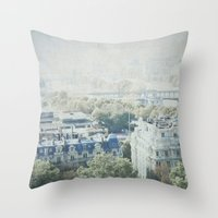 Letters From The Seine - Paris Throw Pillow