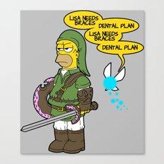 The Simpsons: Legend of Zel... er- D'OH! Canvas Print