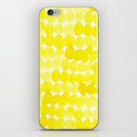 yellow//dots iPhone & iPod Skin