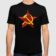 Soviet symbol Mens Fitted Tee Black SMALL