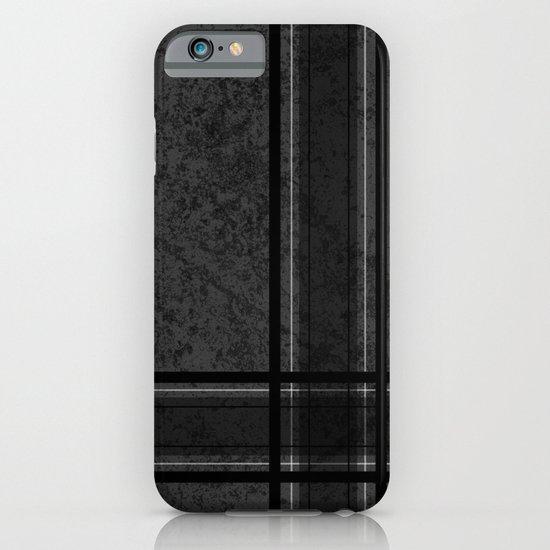 Grungy Grey Plaid iPhone & iPod Case