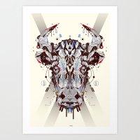bulls Art Print