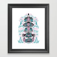Toto-Tem Framed Art Print