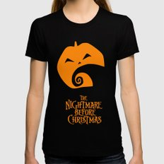 The Nightmare before Christmas Womens Fitted Tee Black SMALL