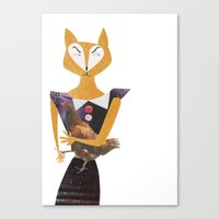 Miss sneaky Canvas Print