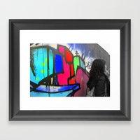 Wacky Wall Framed Art Print