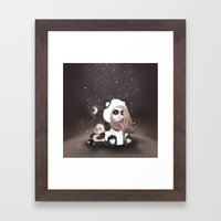 Find the place you call home among the stars Framed Art Print
