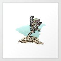 Star Wars - Boba Fett Art Print