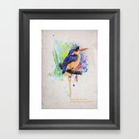 Nature does not hurry Framed Art Print