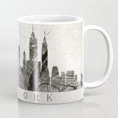New York Skyline + Map #3 Mug