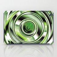 Abstract Circle Green iPad Case
