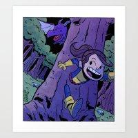 Run Kitty Run! Art Print