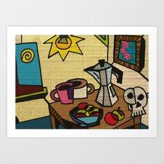 Breakfast in Cubism Art Print