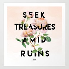 Seek Treasure  Art Print
