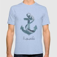 Be my Anchor Mens Fitted Tee Athletic Blue SMALL
