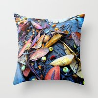 Leaves Of A Strawberry T… Throw Pillow