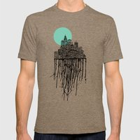 City Drips Mens Fitted Tee Tri-Coffee SMALL