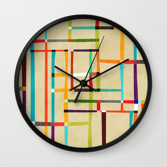 The map (after Mondrian) Wall Clock
