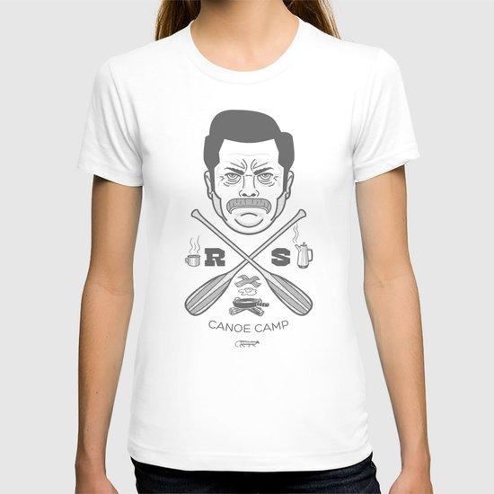 Ron Swanson Canoe Camp (clean gray variant) T-shirt
