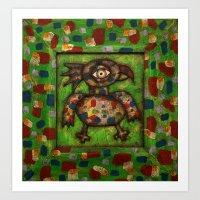 The Green Parrot Art Print