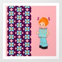 Little Miss Mink Art Print