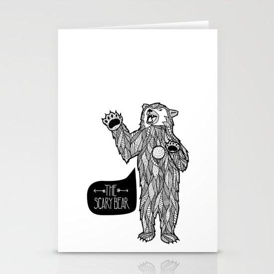 Scary Bear 2 Stationery Card