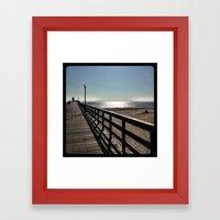 Pier. Framed Art Print