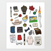 doctor who Art Prints featuring Doctor Who by Shanti Draws
