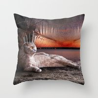 King Boris Throw Pillow