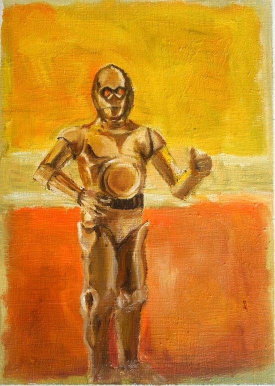 C3PO and Rothko Art Print