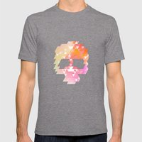 Skull Pink Mens Fitted Tee Tri-Grey SMALL