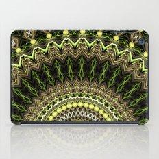 green yellow mandala iPad Case