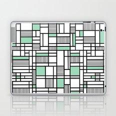 Map Lines Mint Laptop & iPad Skin