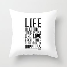 Happiness quote Throw Pillow