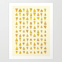 99 Slices of Za on the Wall Art Print