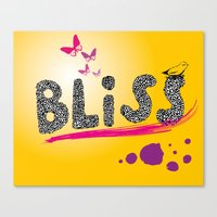 bliss. Canvas Print