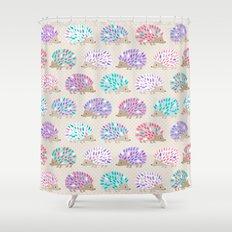 Hedgehog Polkadot Shower Curtain