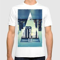 MIAMI Mens Fitted Tee White SMALL